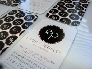 Ebony Peoples Events and Design, Dallas Wedding Planner, Fort Worth Wedding Planner, Event Planner, Business Card