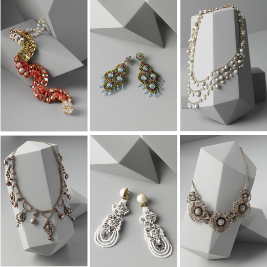 BHLDN Bridal Collection, Bridal Jewelry, Necklace, Earrings