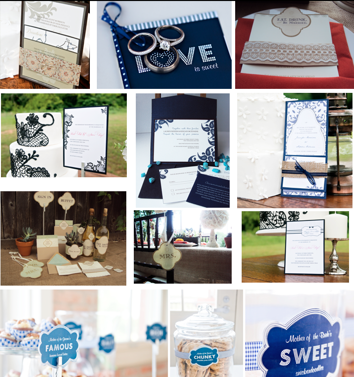 Dallas Wedding Planner, Doodle Dog Advertising, Wedding Stationery, Invitations, Dessert Table