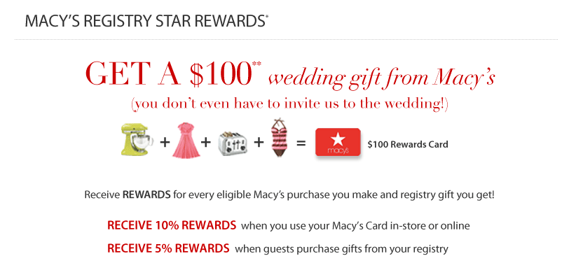 Dallas Wedding Planner, Macy's Star Rewards, Macy's Gift Registry, The Wedding Shop