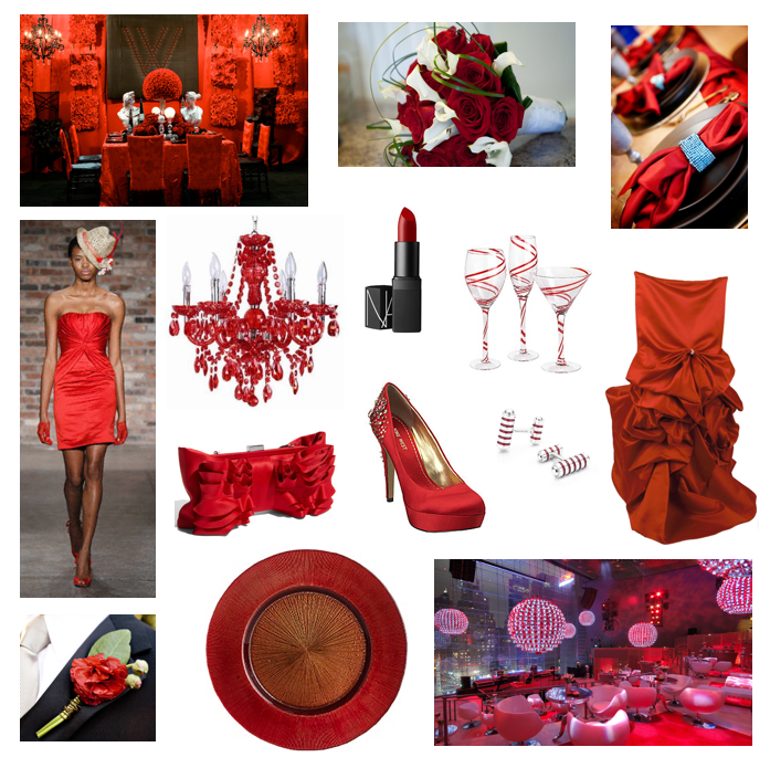 Dallas Wedding Planner, Fort Worth Wedding Planner, Red Wedding, Red Party, Red Inspiration Board
