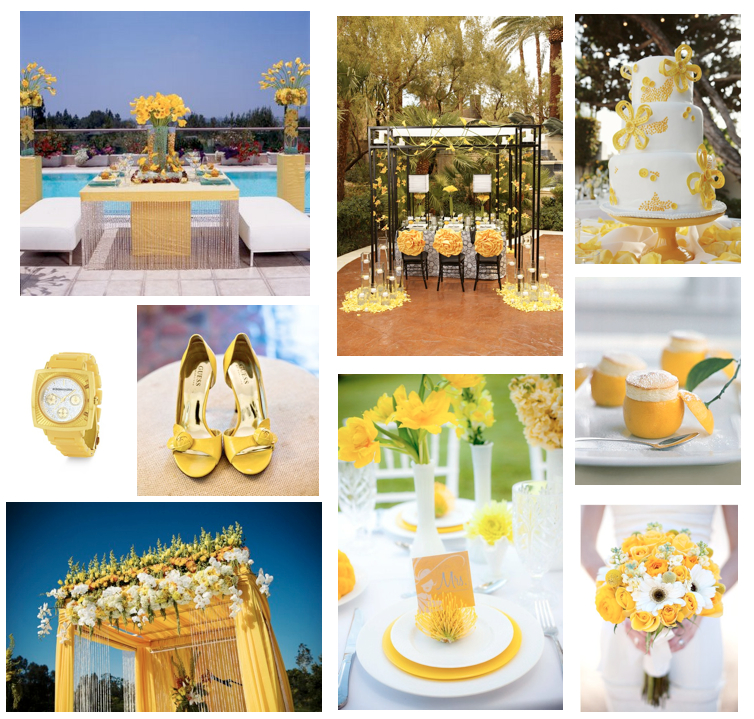 Dallas Wedding Planner, Yellow Wedding, Sunny Wedding, Yellow Table Scape, Yellow Bouquet, Guess Shoes, BCBG Watch