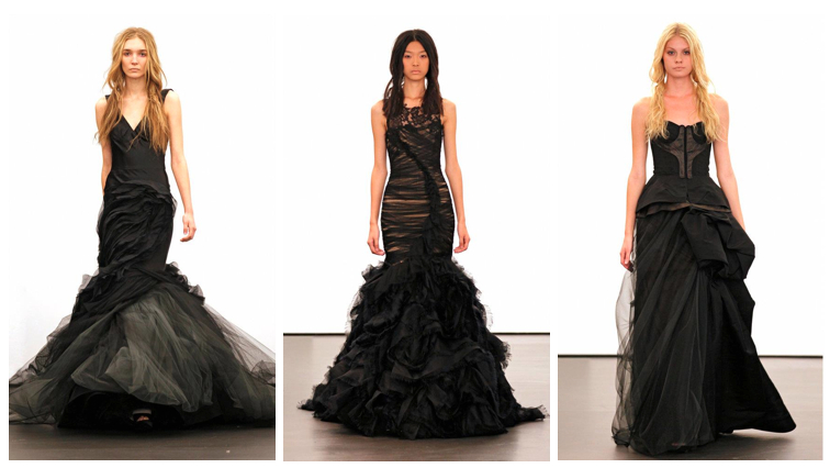 Dallas Wedding Planner, Vera Wang Fall 2012, Witchcraft Wedding Gown, Black Wedding, Nude Wedding, New York Bridal Fashion Week