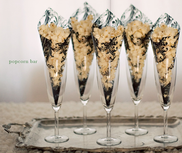 Dallas Wedding Planner, Dallas Event Planner, Dallas Party Planner, Popcorn Bar, Gourmet Popcorn, Elegant Popcorn Display