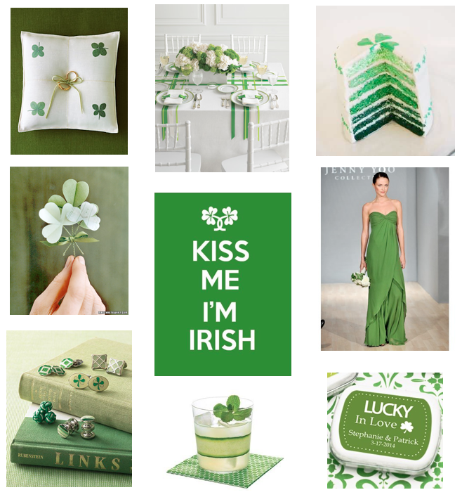 Dallas Wedding Planner, Dallas Party Planner, Dallas Event Planner, St. Patrick's Day Wedding, Green Wedding, Shamrock Wedding