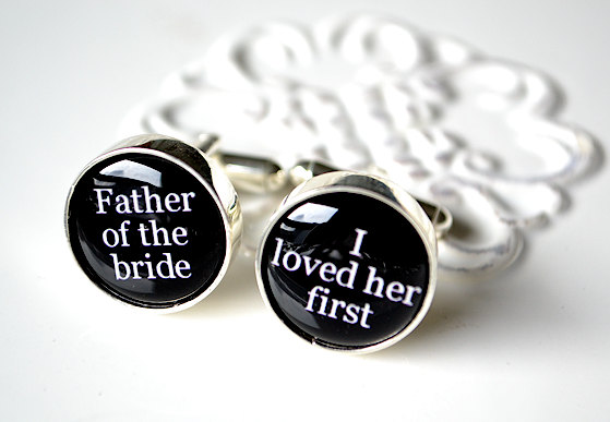 Dallas Wedding Planner, Dallas Event Planner, Dallas Party Planner, Father of the Bride, Black and White Cuff Links, I loved her first