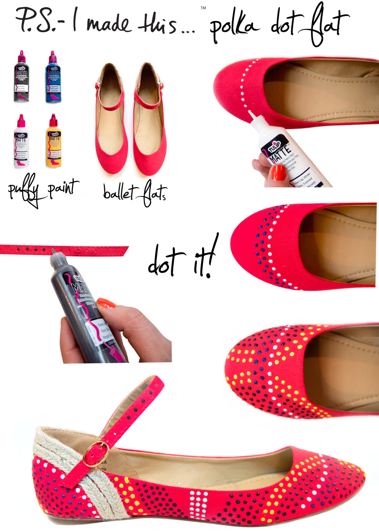 Dallas Wedding Planner, Dallas Event Planner, Dallas Party Planner, DIY Polka Dot Flats, P.S.- I made this...
