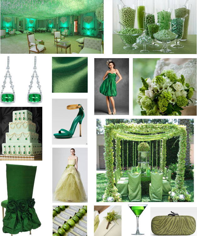 Dallas Wedding Planner, Dallas Event Planner, Pantone 2013 Color of the Year, Emerald Green Wedding